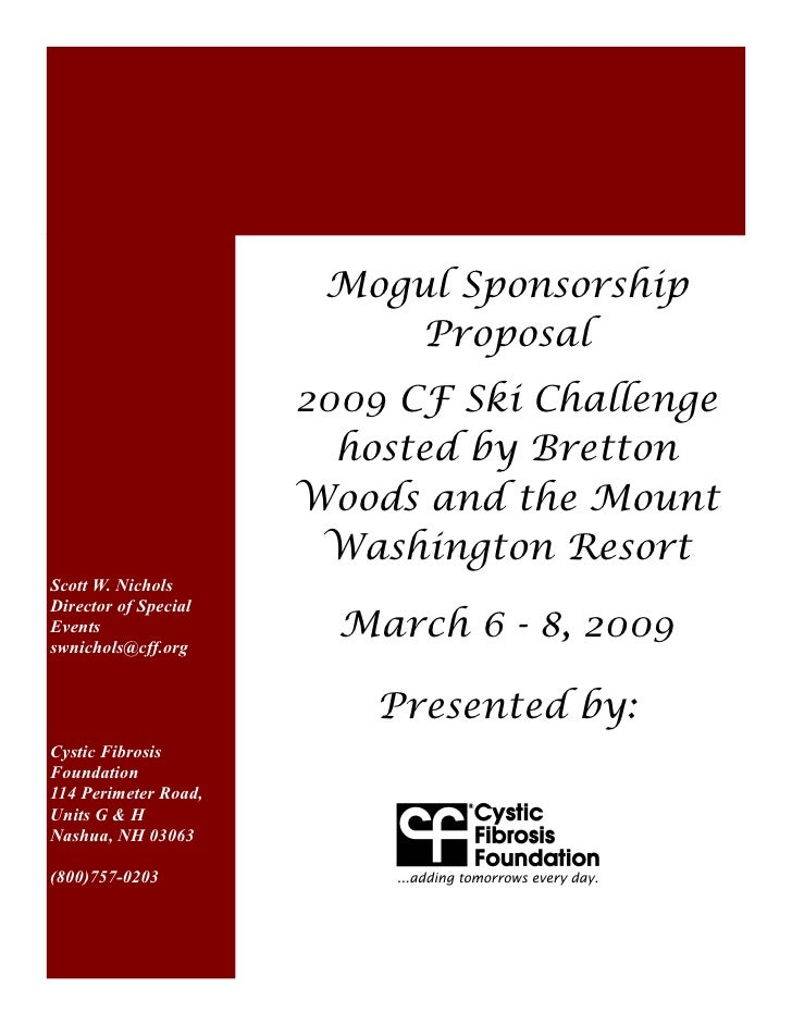 Mogul Sponsorship                          Proposal                      2009 CF Ski Challenge                        host...