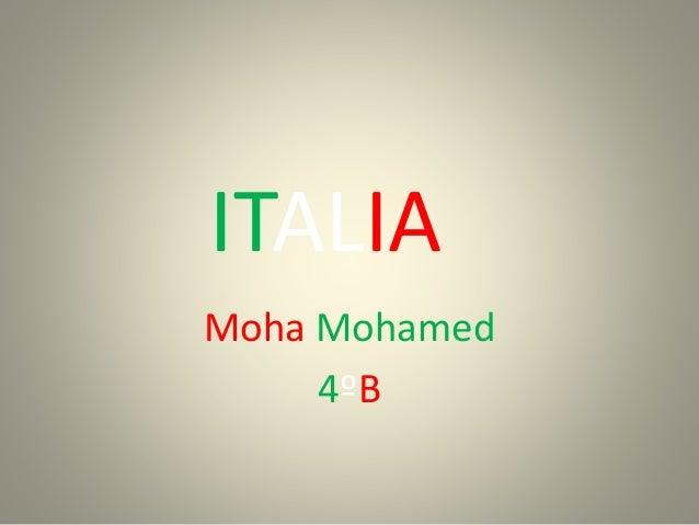 ITALIA Moha Mohamed 4ºB