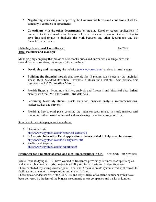 SlideShare  Cfa Candidate Resume
