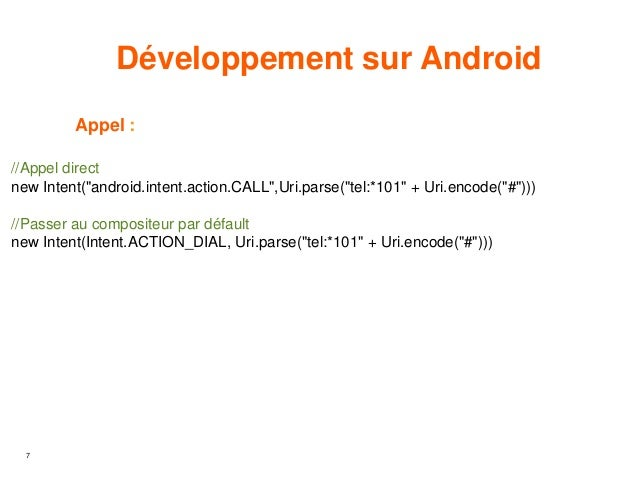 USSD Code et Android