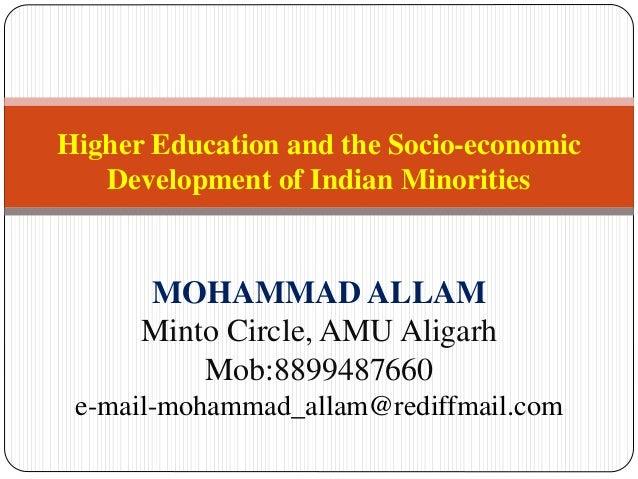 education and socio economic development pdf