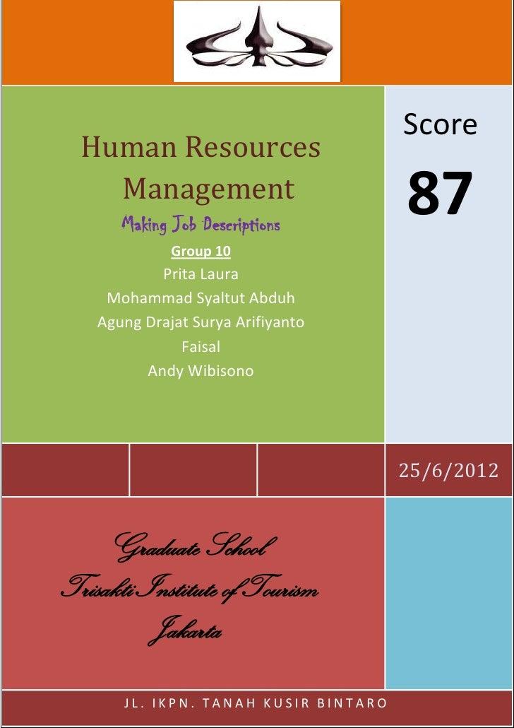 K                                        Score  Human Resources    Management       Making Job Descriptions               ...