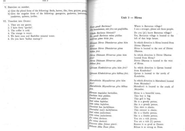 Handbook of the oromo language- 1990