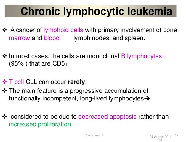 the symptoms and treatment of chronic myeloid leukemia a blood cell disease Except when stem cell transplantation is successful, treatment is not known to be curative however, since the advent of tyrosine kinase inhibitors (tkis), chronic myeloid leukemia (cml) has been transformed from a disease that was usually fatal into one in which patients have a close-to-normal life expectancy.