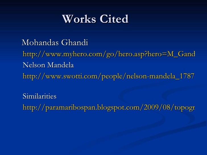 Gandhi and Mandela: A Brief Comparison