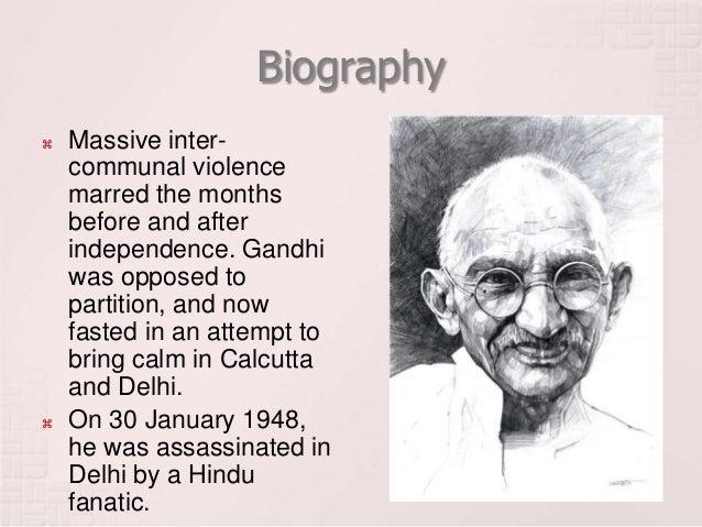 Gandhi brief biography