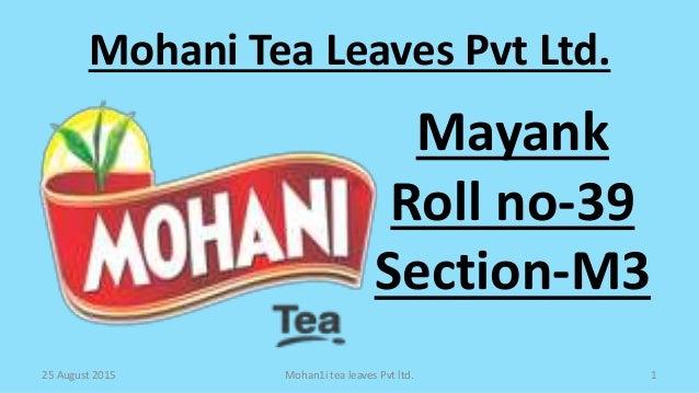 Mohani tea final presenatation