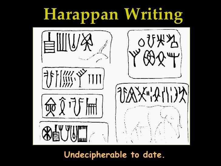 harappa and mohenjo-daro writing a check