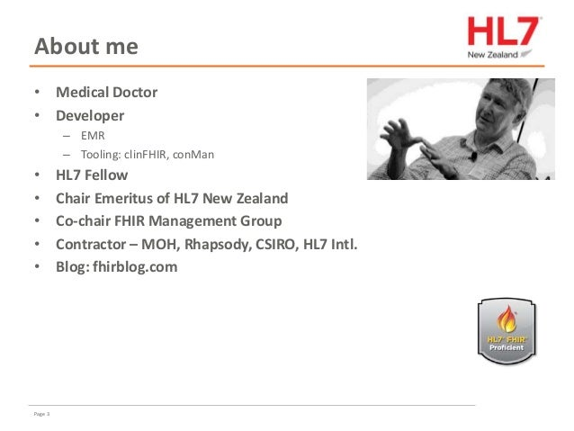 FHIR for implementers in New Zealand Slide 3