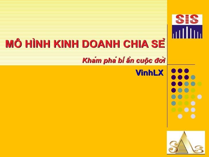 MÔ HÌNH KINH DOANH CHIA SẺ Khám phá bí ẩn cuộc đời VinhLX