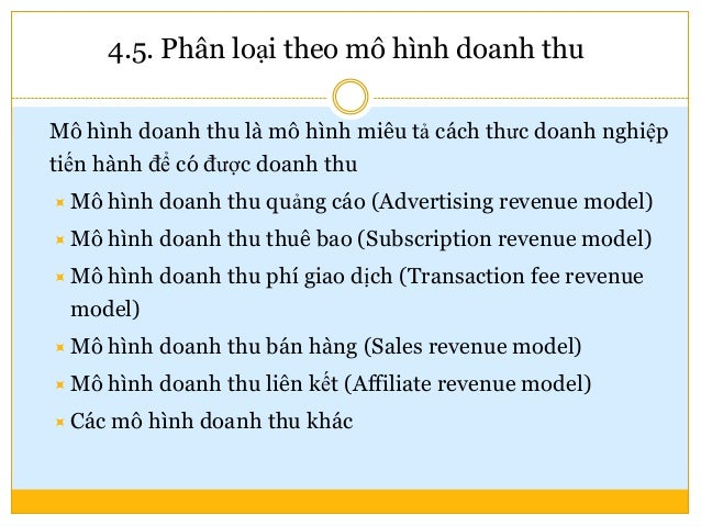 5. Một số mô hình kinh doanh TMĐT điển hình Amazon.com – Sàn bán lẻ trực tuyến hàng đầu trên thế giới Facebook.com – Kênh ...
