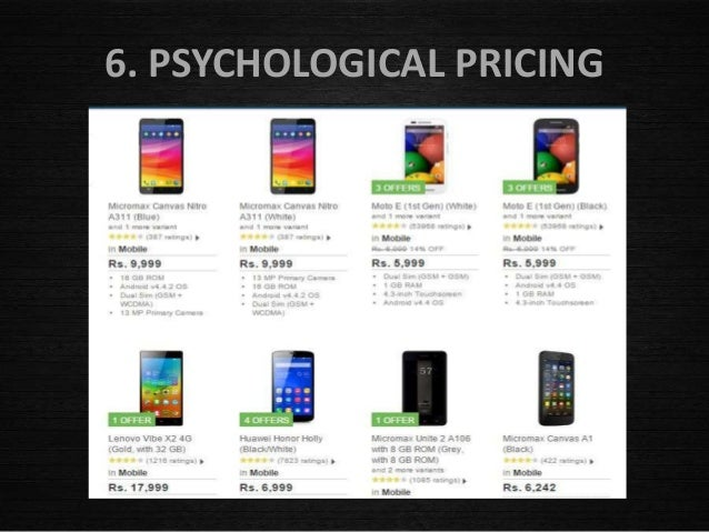 Pricing Policies and Strategies