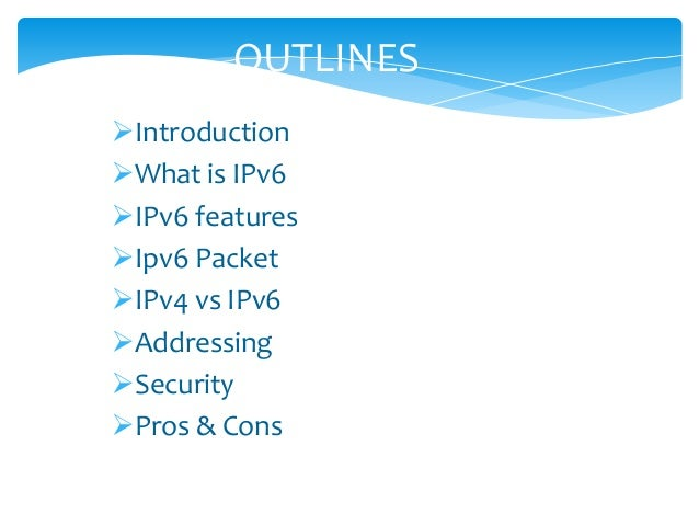 the introduction to ipv6 vs ipv4 information technology essay Free essay: david wells 11/27/13 intro to linux networking final  it is in order  to send or receive any information, similar to the postal service.