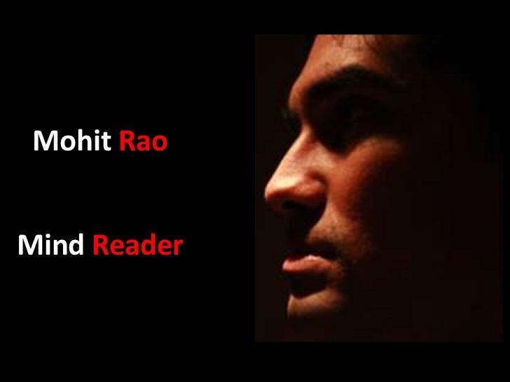 Mohit RaoMind Reader