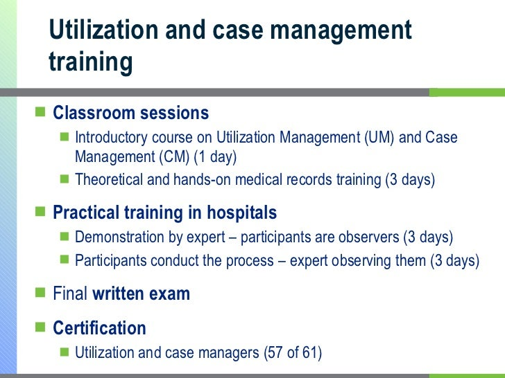 The Utilization Management Industry: Structure and Process ...