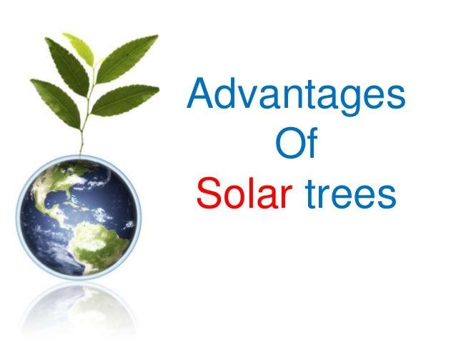 Advantages Of Solar trees