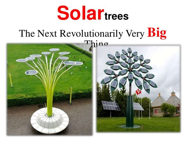 Solartrees The Next Revolutionarily Very Big Thing