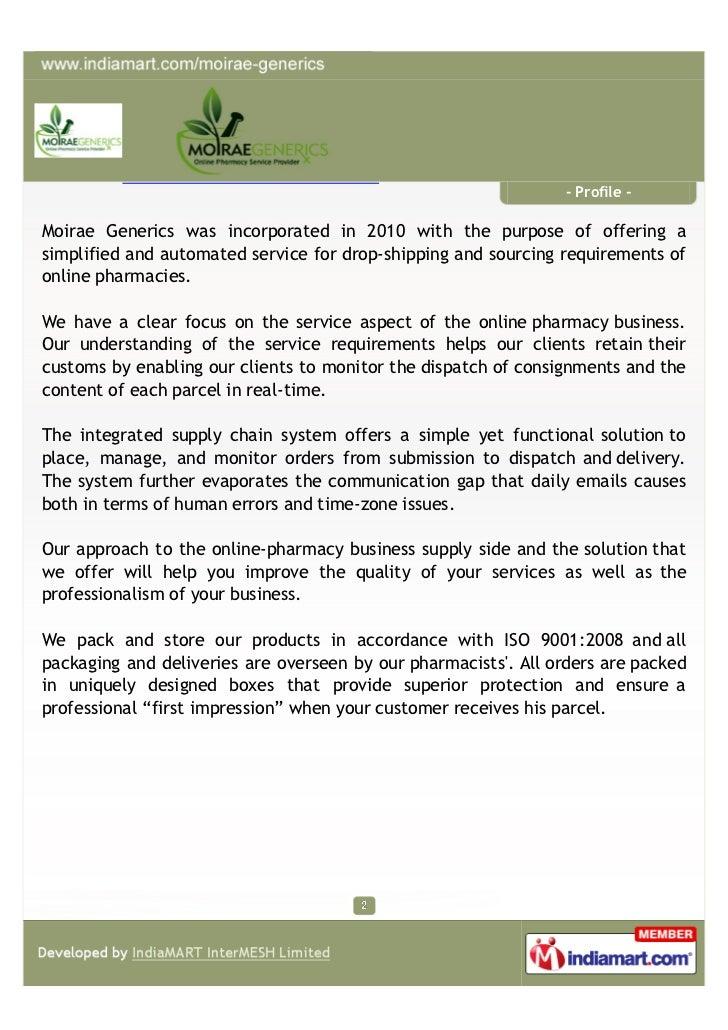 Moirae Generics Pvt Ltd, Mumbai, Pharmaceutical Product Slide 2