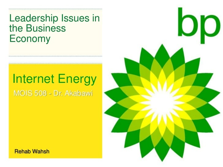 Leadership Issues in the Business Economy<br />Internet Energy<br />MOIS 508 - Dr. Akabawi<br />Rehab Wahsh<br />