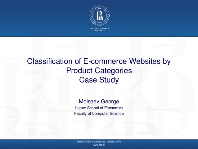 George Moiseev - Classification of E-commerce Websites by