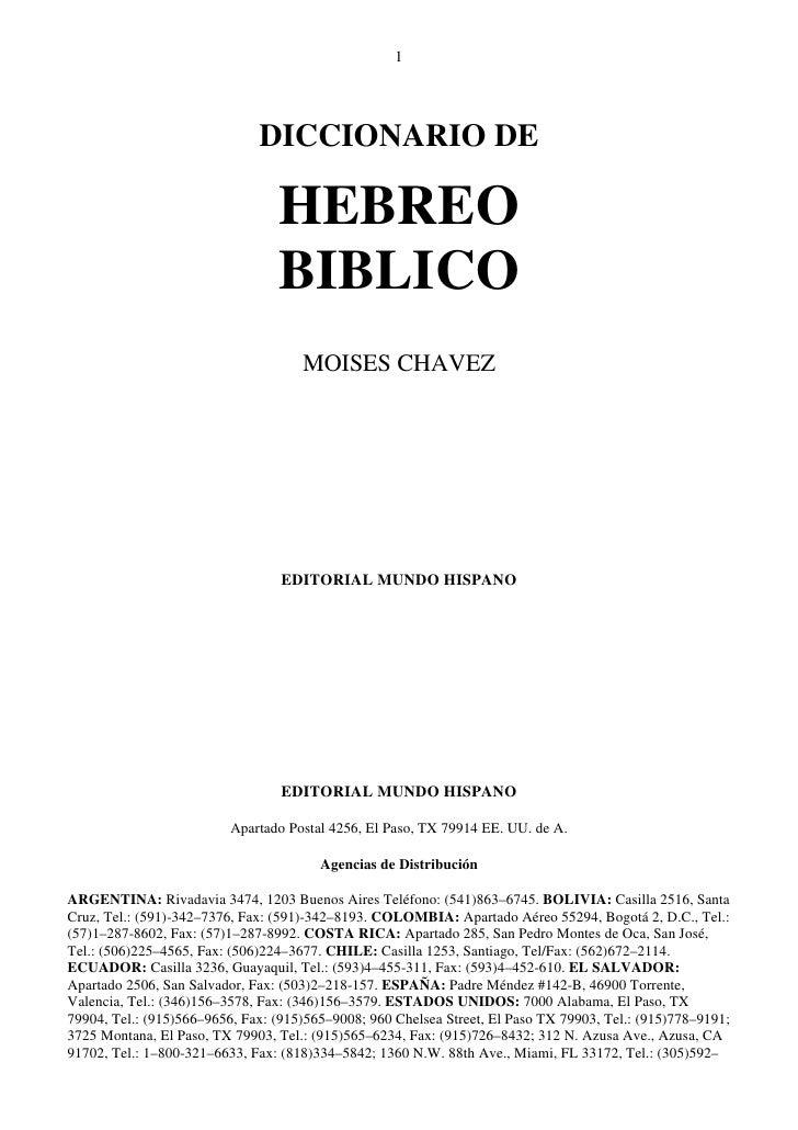 1                              DICCIONARIO DE                                 HEBREO                                 BIBLI...