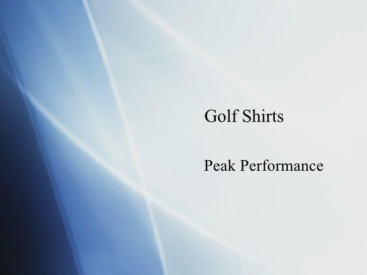 Golf Shirts Peak Performance