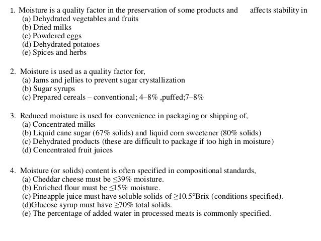 Moisture determination and Total solid