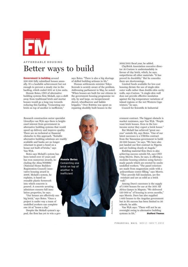 Moladi-Better ways to build-Hennie Botes-Financial Mail