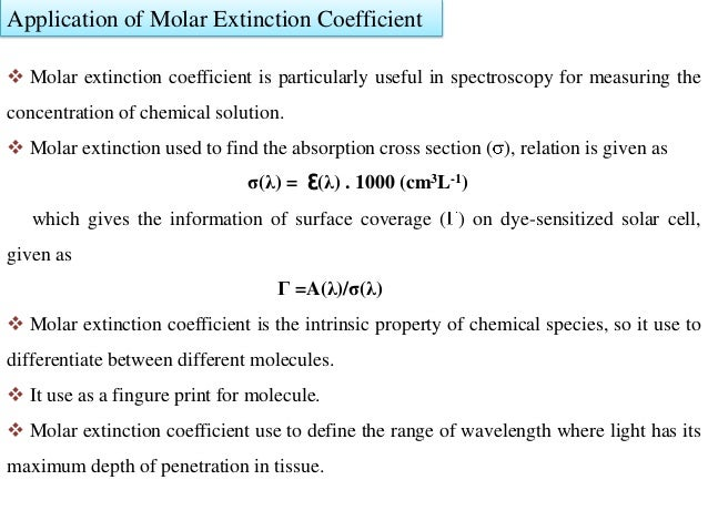 molar absorptivity and concentration relationship trust