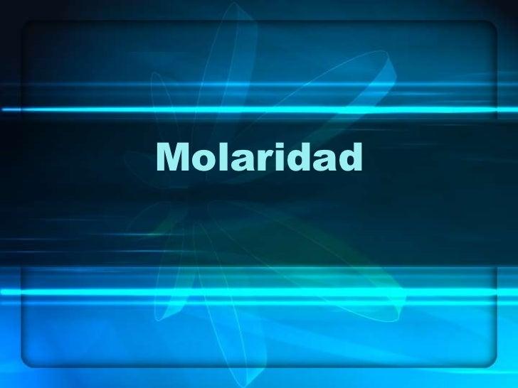 Molaridad<br />