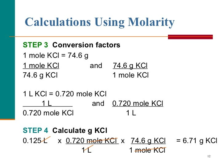 Molarity And Dilution