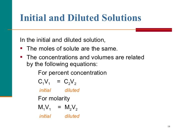 molarity and percent solution lab Two important ways to measure concentration are molarity and percent solution different solutes dissolve to different extents in different solvents in different conditions.