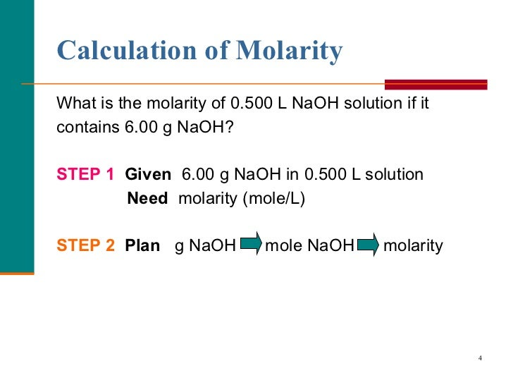 how to find moles with liters and molarity