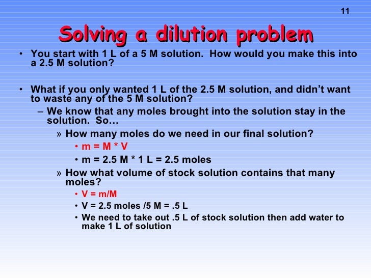 Molarity Molality Dilutions – Dilution Problems Worksheet