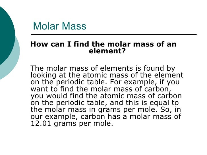 Molar Mass U003culu003eu003cliu003eHow Can I Find The Molar Mass Of ...