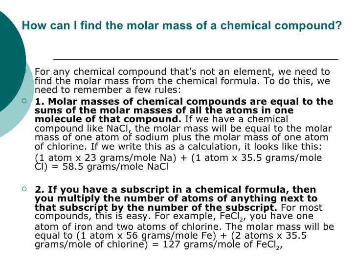 how to find moler mass