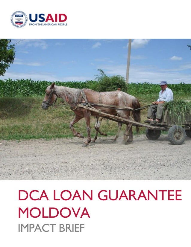 DCA LOAN GUARANTEEMOLDOVAIMPACT BRIEF