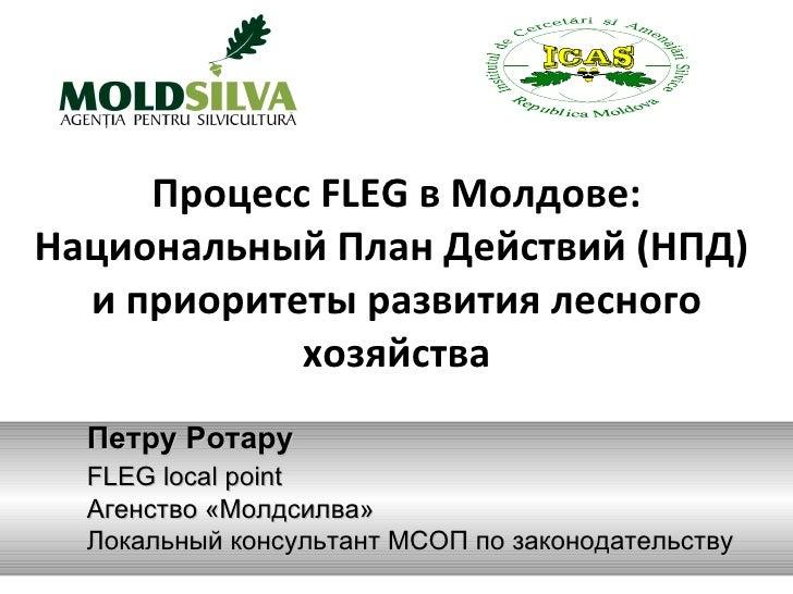 Процесс FLEG в Молдове: Национальный План Действий (НПД)  и приоритеты развития лесного хозяйства Петру Ротару FLEG local ...