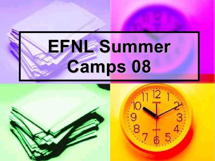 EFNL Summer Camps 08
