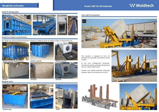 Moldtech Sl Moulds For Precast Concrete Catalogue