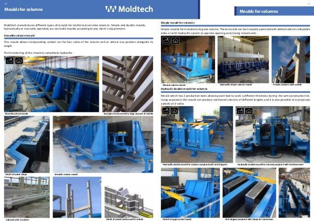 Moldtech SL - Moulds for precast concrete catalogue