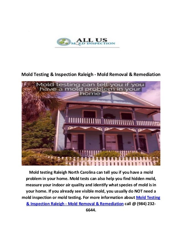 Mold Testing Inspection In Raleigh Nc