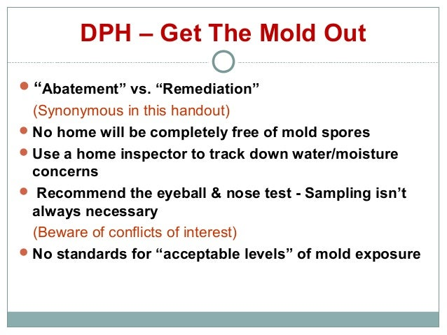 Mold Remediation: Mold Remediation Certification