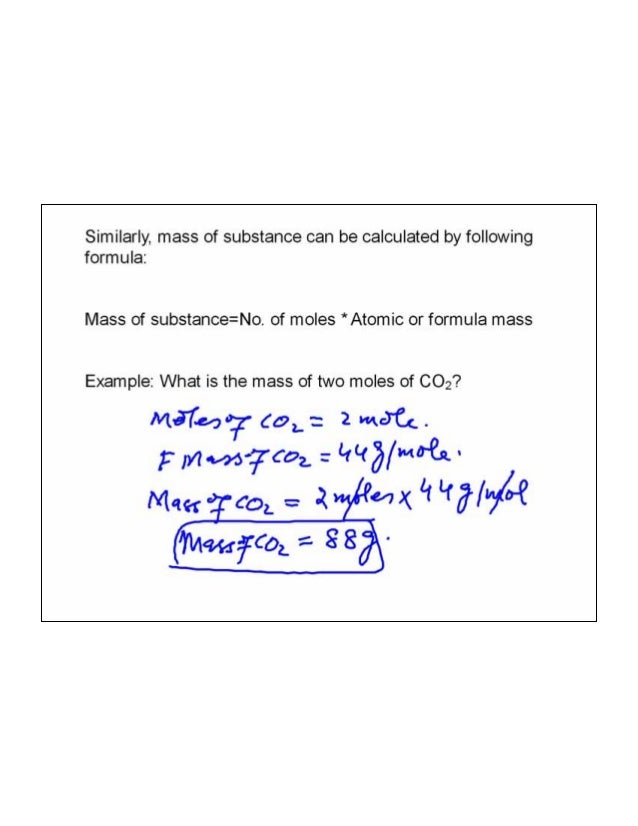 how to find number of moles equation