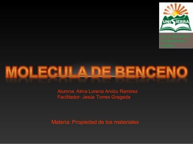 Ing. Industrial en Productividad y Calidad Alumna: Alma Lorena Arvizu Ramirez Facilitador: Jesús Torres Grageda Materia: P...