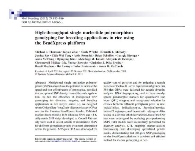 Principle of Microarray-basedgenotyping of SingleFeature Polymorphisms(SFPs) by Oligo Chip.