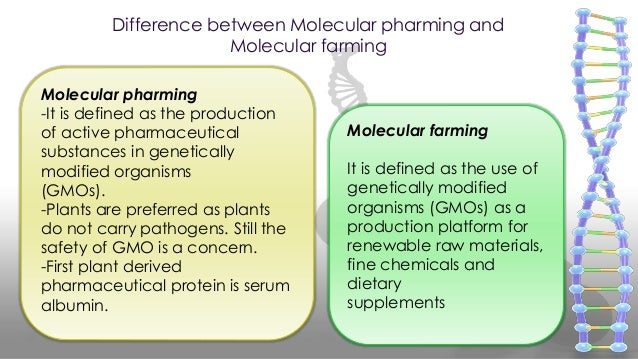 molecular farming The commonly used term 'molecular farming' describes the large‐scale production of valuable proteins in transgenic plants, including antibodies, vaccines, other pharmaceuticals and industrial proteins.