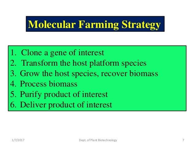 Molecular pharming.