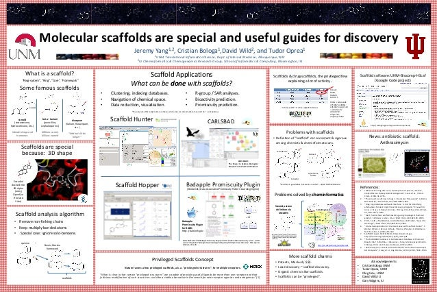Molecular scaffolds are special and useful guides for discovery Jeremy Yang1,2, Cristian Bologa1,David Wild2, and Tudor Op...