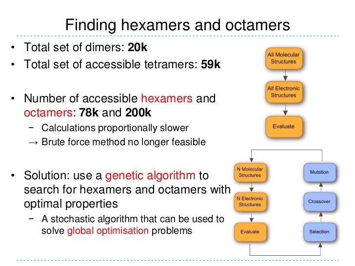Finding hexamers and octamers<br /><ul><li>Total set of dimers: 20k